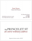 19 Princelet Street Double Sided Business Card
