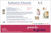 Website design created for K E Pearls & Gems