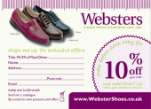 Websters Exclusive Offer Postcard - Side 1