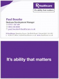 R Healthcare Double sided business card